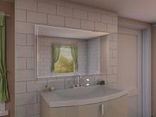 LED-Badspiegel Gurli