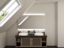 Badezimmerspiegel LED für Dachschräge Barrit