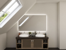 LED Spiegel mit Dachschräge