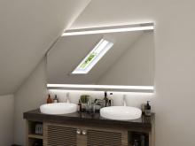 Badezimmerspiegel LED mit Dachschräge Torid